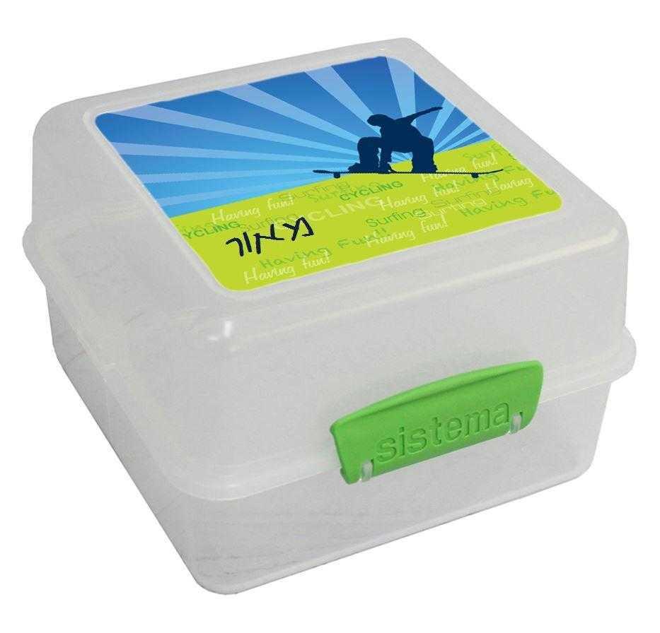 קופסאות אוכל סיסטמה - סקייטבורד