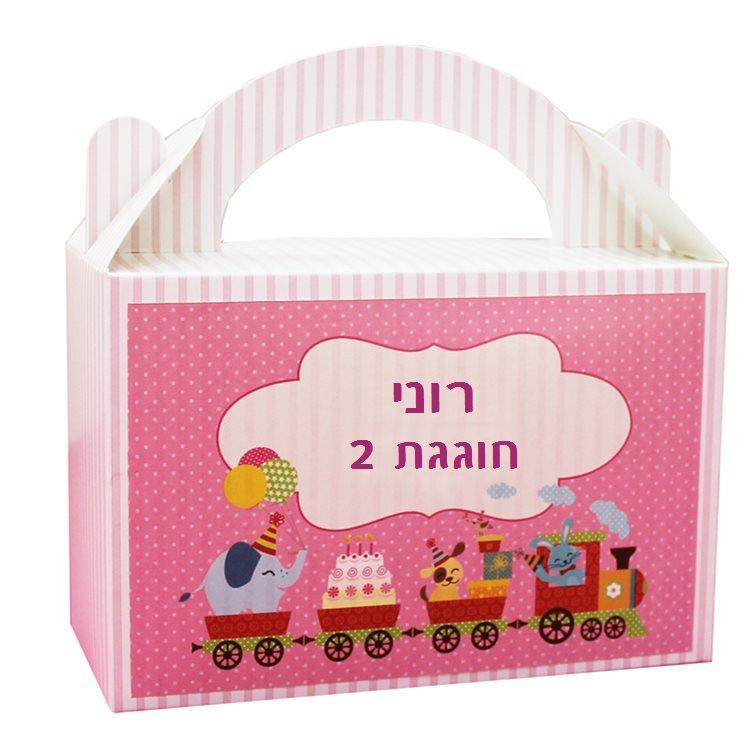 מזוודות מתנה לאורחי היומולדת - יום הולדת רכבת הפתעות (בנות)