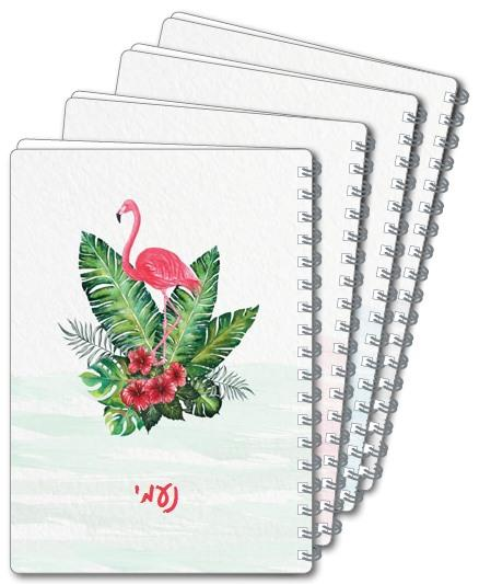 מחברות ספירלה A4 - פרחים טרופיים