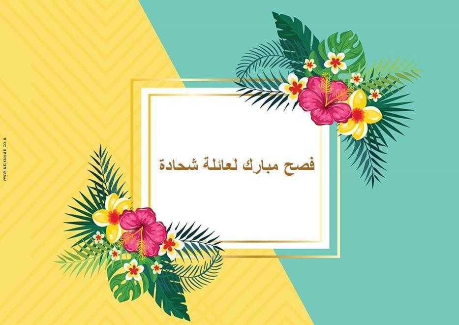 قاعدة طعام للضيافة (פלייסמנטים מעוצבים לשולחן בערבית) - احتفال صيفي (חגיגת קיץ בערבית)