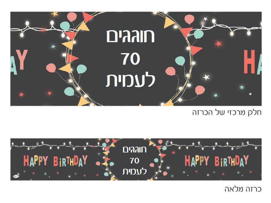 כרזה ענקית ליומולדת - יום הולדת גרלנדה