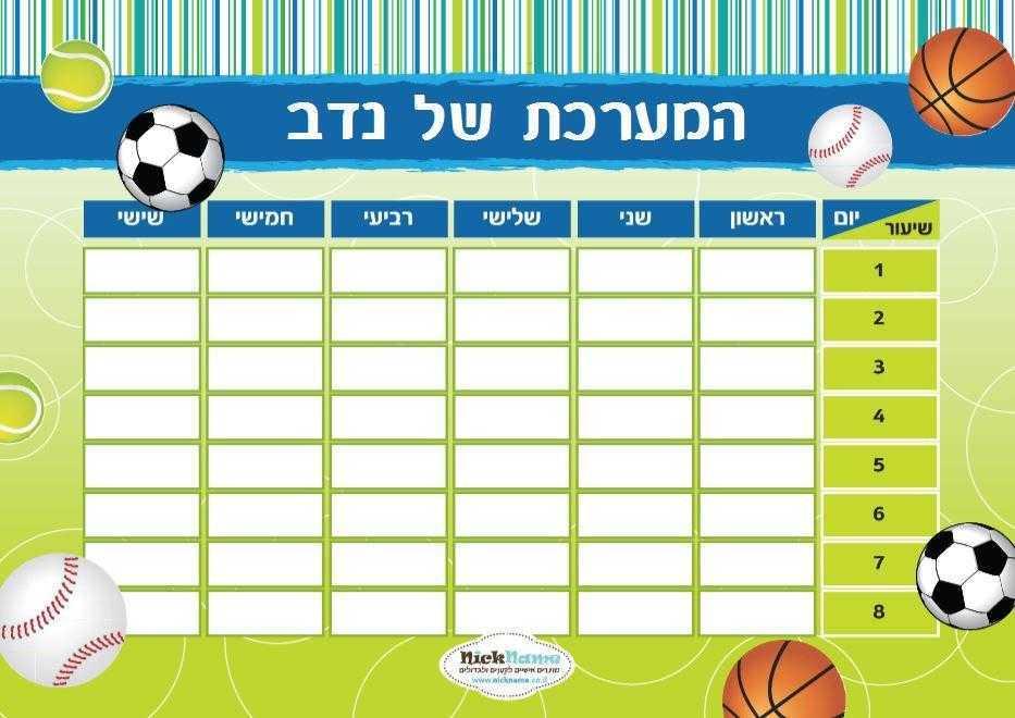 מערכת שעות - כדורי ספורט
